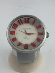 クォーツ腕時計/アナログ/ラバー/GRY/GRY