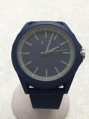 クォーツ腕時計/アナログ/ラバー/NVY/NVY