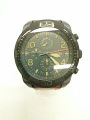 FS5714/クォーツ腕時計/アナログ/レザー/BLK/BRW