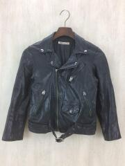 Kids Leather Riders Jacket/ダブルライダースジャケット/130/ブラック/