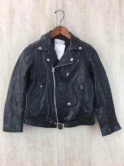 Kids Leather Riders Jacket/ダブルライダースジャケット/150/レザー/ブラック