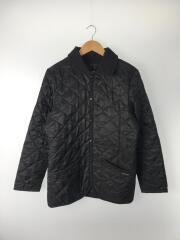 キルティングジャケット/36/ポリエステル/ブラック