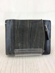 14AW/2つ折り財布/レザー/ブラック/ユニセックス/ライン11/スレ有/箱有