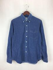 L/S Shirt/長袖シャツ/1/コットン/インディゴ