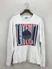 長袖Tシャツ/M/コットン/ホワイト