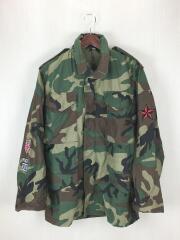 ミリタリージャケット/XS/コットン/グリーン