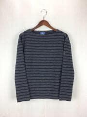 セーター(厚手)/--/ウール/GRY/ボーダー