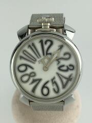 マヌアーレ40MM/クォーツ腕時計/アナログ/--/ホワイト/SLV/5020.5 28231