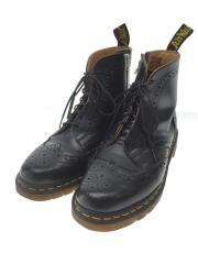 ウィングチップブーツ/ブーツ/UK6/ブラック/レザー