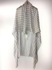 スカーフ/シルク/BLU/ストライプ/ユニセックス