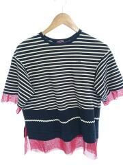 Tシャツ/1/コットン/BLK/ボーダー