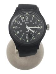 クォーツ腕時計/アナログ/ブラック/ブラック