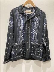 Aloha Scarf Print Shirt/長袖シャツ/2/ポリエステル/NVY