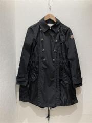 フード付き コート/131-09S-49600/ナイロンジャケット/1/ポリエステル/BLK/無地