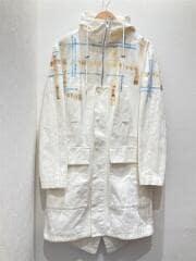 パーカー/44/コットン/ホワイト/モッズコート