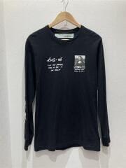 MONNALISA TEE/長袖Tシャツ/M/コットン/BLK