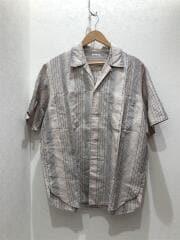 半袖シャツ/M/コットン/BEG/ストライプ/8116-218-0570