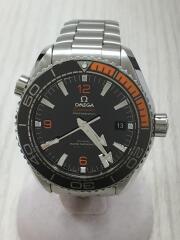 シーマスター プラネットオーシャン600M コーアクシャル/腕時計/アナログ/チタン/BLK/SLV/自動巻SEAMASTER  PLANET OCEANバックスケルトン