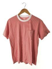 19S-HS-001/Tシャツ/38/コットン/RED/ボーダー