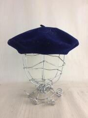 トカゲ刺繍/ベレー帽/--/ウール/NVY
