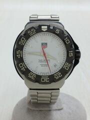 クォーツ腕時計/アナログ/WHT/SLV/ダイバーズ FORMULA1 フォーミュラ1