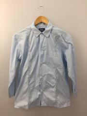 長袖シャツ/M/コットン/BLU/キューバシャツ