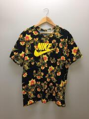 ナイキ/Tシャツ/XL/コットン/BLK/黒/花柄/SPORTSWEAR TECH FLORAL PR TEE