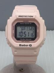 カシオ/ソーラー腕時計・Baby-G/デジタル/ラバー/PNK/ピンク/BGD-5000-4BJF