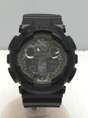 カシオ/クォーツ腕時計・G-SHOCK/デジアナ/BLK/黒/ブラック/GA-100CF-1AJF