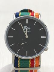 IL BISONTE/クォーツ腕時計/アナログ/--/BLK/マルチカラー