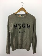MSGM/エムエスジーエム/スウェット/XS/コットン/GRY/プリント