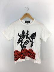 ブラックコムデギャルソン/Tシャツ/M/コットン/WHT/プリント