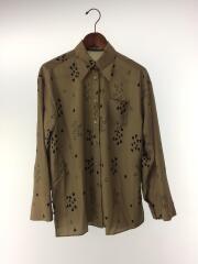 ハートプリントシャツ/長袖シャツ/FREE/ポリエステル/KHK/総柄/RWFB195051