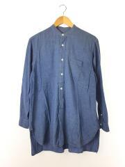 ベタシャンバンドカラーシャツ/長袖シャツ/1/コットン/BLU/15F-02004