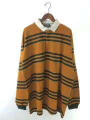 COLUMBIA KNIT/シャツ/XXL/コットン/BRW/ボーダー/MADE IN USA