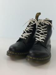 1460/ブーツ/UK7/BLK/レザー/8ホール