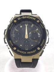 G-SHOCK/G-STEEL/ソーラー腕時計/デジアナ/ラバー/BLK/BLK/GST-W100G
