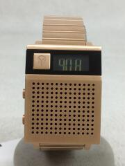 DORK TOO/クォーツ腕時計/デジタル/ステンレス/GLD/GLD
