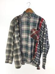7Cut Flannnel Shirt/長袖シャツ/M/コットン/マルチカラー/チェック