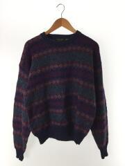 1980s/Old/ノルディックセーター/セーター(厚手)/XL/ウール/PUP/総柄