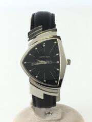ハミルトン/クォーツ腕時計/アナログ/レザー/ブラック/H244112