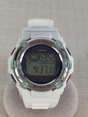 カシオ/クォーツ腕時計/デジタル/ラバー/ブラック/ホワイト/BGR-3007K