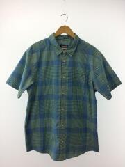 パタゴニア/半袖シャツ/XL/コットン/グリーン/チェック