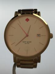 クォーツ腕時計/アナログ/ステンレス/GLD/GLD/ゴールド