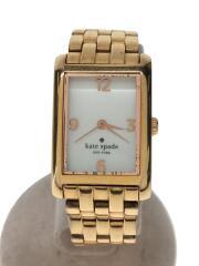 クォーツ腕時計/アナログ/ステンレス/WHT/GLD/1YRU0037/COOPER