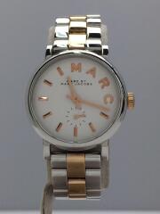 クォーツ腕時計/アナログ/ステンレス/WHT/SLV/シルバー