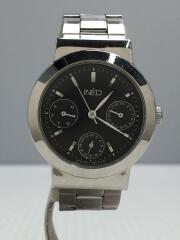 クォーツ腕時計/アナログ/ステンレス/BLK/ブラック/黒/SLV/6329-A04862