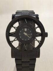 mini/クォーツ腕時計/アナログ/ステンレス/BLK