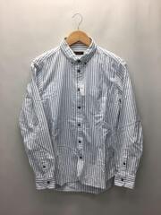 長袖シャツ/42/コットン/WHT/ストライプ/GMG-001-0835-B
