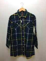 ネルシャツ/2/ウール/GRN/緑/グリーン